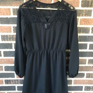 LBD with Lace Shoulders - Size S